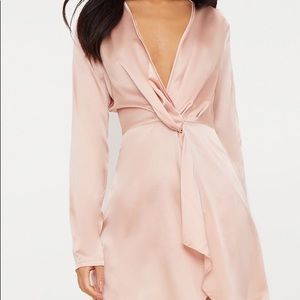 pretty little thing satin dress